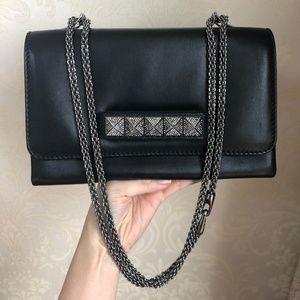 Rockstud Va Va Voom Black Leather